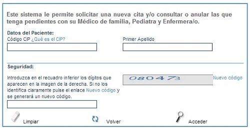 Cita medico en Castilla y Leon