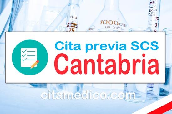 Cita previa SCS - Servicio Cántabro de Salud