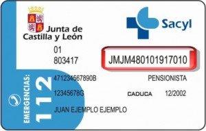 Tarjeta sanitaria de Castilla y Leon