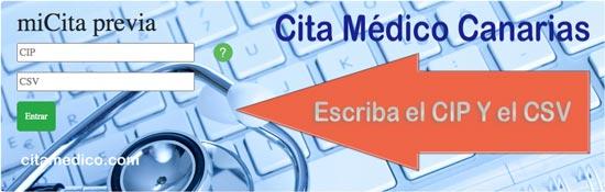 Cita Médico Servicio Canario de salud