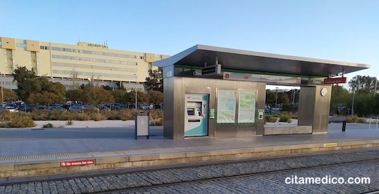 Parada de Metro Málaga Hospital Clinico Virgen de la Victoria