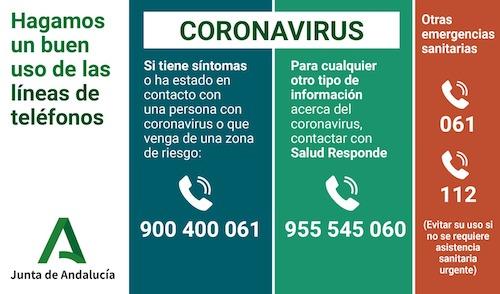 Teléfono Información Coronavirus en Andalucía