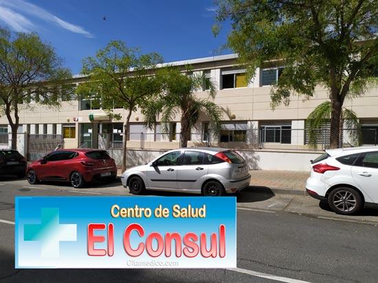 Centro de salud El Consul en Teatinos, Málaga con teléfono, horario y cita previa para este Centrp de atención Primaria del SAS, Servicio Andaluz de Salud