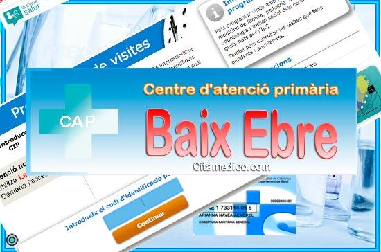 Centre d'atenció primària CAP Baix Ebre de CatSalut Servei Català de la Salut a Tarragona