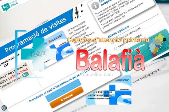 Centre d'atenció primària CAP Balafià-Pardinyes-Secà de Sant Pere de CatSalut Servei Català de la Salut a Lleida