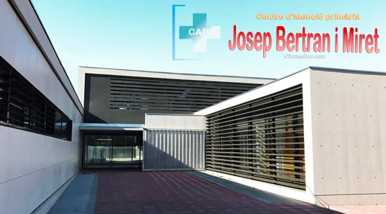 Centre d'atenció primària CAP Josep Bertran i Miret de CatSalut Servei Català de la Salut a Barcelona