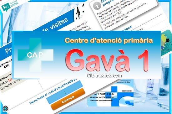 Centre d'atenció primària CAP Gavà 1 de CatSalut Servei Català de la Salut a Barcelona