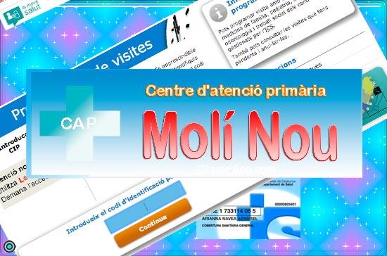 Centre d'atenció primària CAP Molí Nou de CatSalut Servei Català de la Salut a Barcelona