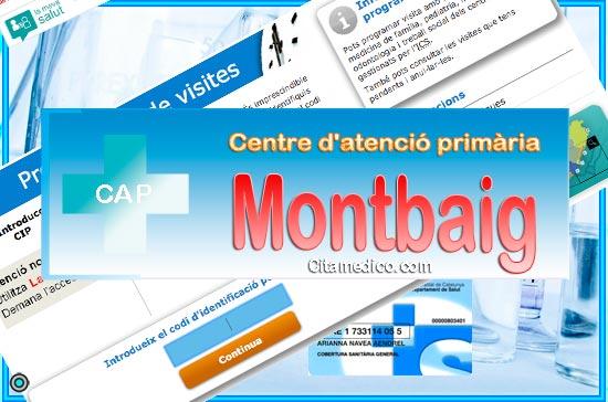 Centre d'atenció primària CAP Montbaig de CatSalut Servei Català de la Salut a Barcelona