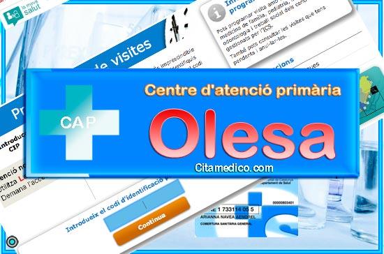 Cita Metge CAP Olesa de Montserrat Centre d'atenció primària de CatSalut Servei Català de la Salut a Barcelona