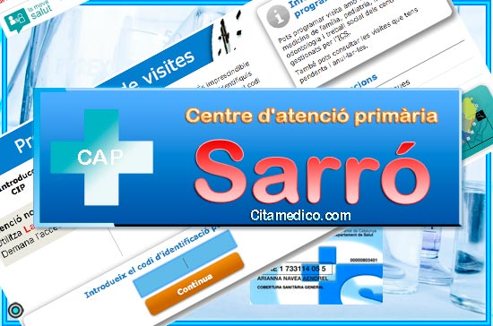 Cita Metge CAP Doctor Sarró Roset Centre d'atenció primària de CatSalut Servei Català de la Salut a Tarragona