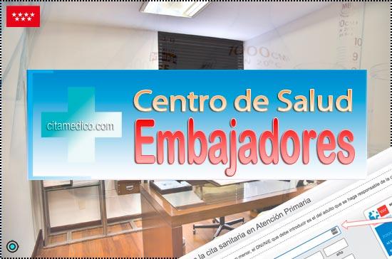 Centro de Atención Primaria Centro de Salud Embajadores de Salud Madrid Servicio Madrileño de Salud (SERMAS)