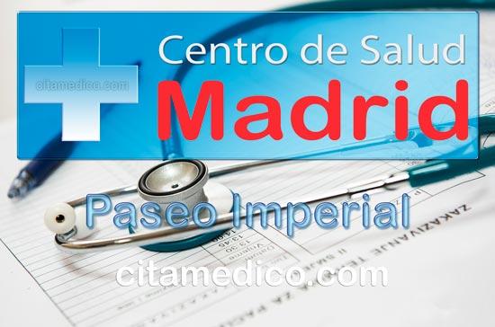 Centro de Atención Primaria Centro de Salud Paseo Imperial de Salud Madrid Servicio Madrileño de Salud (SERMAS)