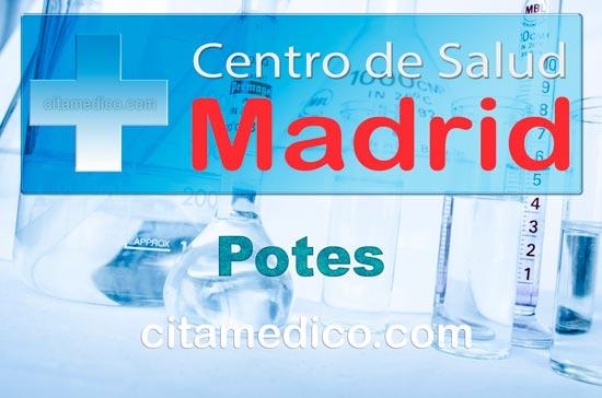 Centro de Atención Primaria Centro de Salud Potes de Salud Madrid Servicio Madrileño de Salud (SERMAS)