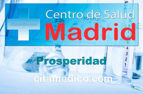Centro de Atención Primaria Centro de Salud Prosperidad de Salud Madrid Servicio Madrileño de Salud (SERMAS)