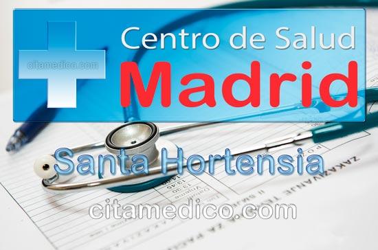 Centro de Atención Primaria Centro de Salud Santa Hortensia de Salud Madrid Servicio Madrileño de Salud (SERMAS)