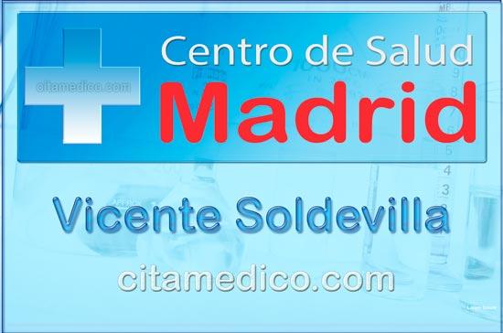 Centro de Atención Primaria Centro de Salud Vicente Soldevilla de Salud Madrid Servicio Madrileño de Salud (SERMAS)