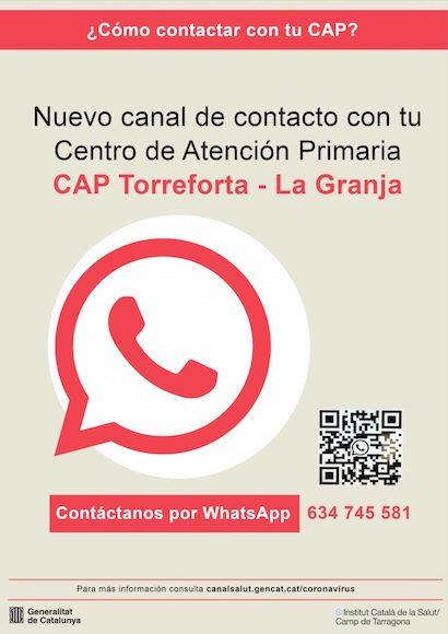 Whatsapp CAP Torreforta-La Granja