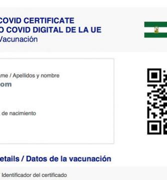 Certificado Digital COVID -19 UE