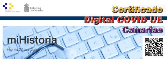 Certificado Digital COVID en Canarias